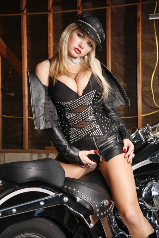 Leather Cap & Corset